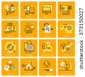 thin line web icons of e... | Shutterstock .eps vector #373150027