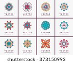 mandala. vintage decorative... | Shutterstock .eps vector #373150993