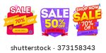 sale banner  badges  design... | Shutterstock .eps vector #373158343