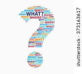 colorful question mark from... | Shutterstock .eps vector #373163617