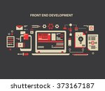 front and development | Shutterstock .eps vector #373167187