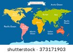 world map. vector illustration... | Shutterstock .eps vector #373171903