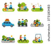 flat icon outing | Shutterstock . vector #373183483