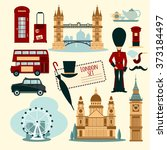 london touristic set | Shutterstock . vector #373184497