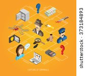 law isometric concept | Shutterstock . vector #373184893