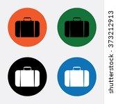 travel bag icon | Shutterstock .eps vector #373212913