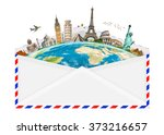 famous monuments of the world... | Shutterstock . vector #373216657