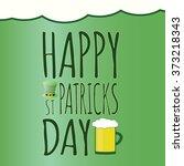 happy saint patrick day card... | Shutterstock .eps vector #373218343