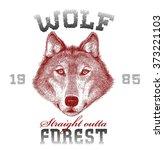 wolf silk print. vector