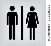 toilet sign | Shutterstock .eps vector #373226383