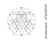mystical geometry symbol.... | Shutterstock .eps vector #373250743