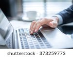 businessman with laptop in... | Shutterstock . vector #373259773