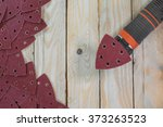 purple triangle sand papers on... | Shutterstock . vector #373263523