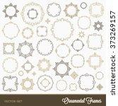 set of flourishes ornamental... | Shutterstock .eps vector #373269157