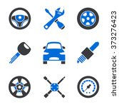 set of nine simplified... | Shutterstock .eps vector #373276423