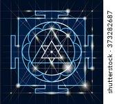 ganapati yantra   cosmic... | Shutterstock .eps vector #373282687