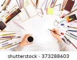 post blog social media. view... | Shutterstock . vector #373288603