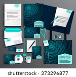 striped corporate identity... | Shutterstock .eps vector #373296877