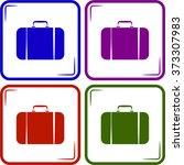 travel bag icon | Shutterstock .eps vector #373307983