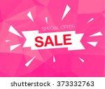 super sale special offer banner ... | Shutterstock .eps vector #373332763