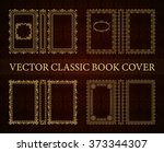 vector classical book cover.... | Shutterstock .eps vector #373344307