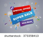 super sale paper banner. sale... | Shutterstock .eps vector #373358413