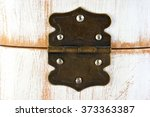 Old Dusty Rustic Hinge On Box...
