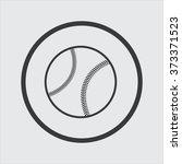 baseball icon | Shutterstock .eps vector #373371523
