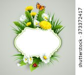 Fresh Spring Background With...