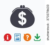 wallet dollar sign icon. cash... | Shutterstock . vector #373378633