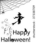halloween illustration with... | Shutterstock .eps vector #37338709