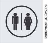a man and a lady toilet sign in ... | Shutterstock .eps vector #373392673