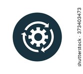 settings reload icon  on white...   Shutterstock . vector #373403473