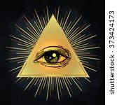 Eye Of Providence. Masonic...
