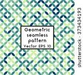 simple geometric background.... | Shutterstock .eps vector #373434193