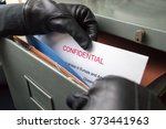 thief stealing confidential... | Shutterstock . vector #373441963
