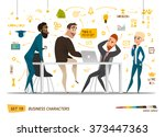 business characters set | Shutterstock .eps vector #373447363