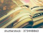 stack of magazines | Shutterstock . vector #373448863