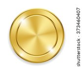 blank round polished gold metal ...   Shutterstock .eps vector #373460407