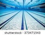 swimming pool under water... | Shutterstock . vector #373471543