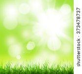 abstract sunny spring... | Shutterstock . vector #373478737