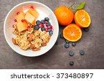 healthy home made breakfast of... | Shutterstock . vector #373480897