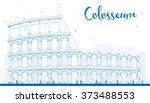 outline colosseum in rome....   Shutterstock . vector #373488553