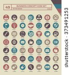 49 business and office icon set ... | Shutterstock .eps vector #373491253