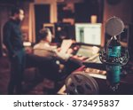 sound engineer and producer... | Shutterstock . vector #373495837