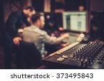 sound engineer and producer... | Shutterstock . vector #373495843