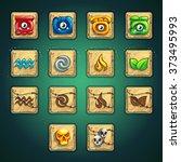 cartoon style booster buttons... | Shutterstock .eps vector #373495993