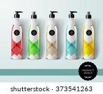 mockup template for branding... | Shutterstock .eps vector #373541263
