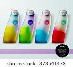 mockup template for branding... | Shutterstock .eps vector #373541473