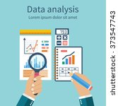 analysis of concept in flat... | Shutterstock .eps vector #373547743